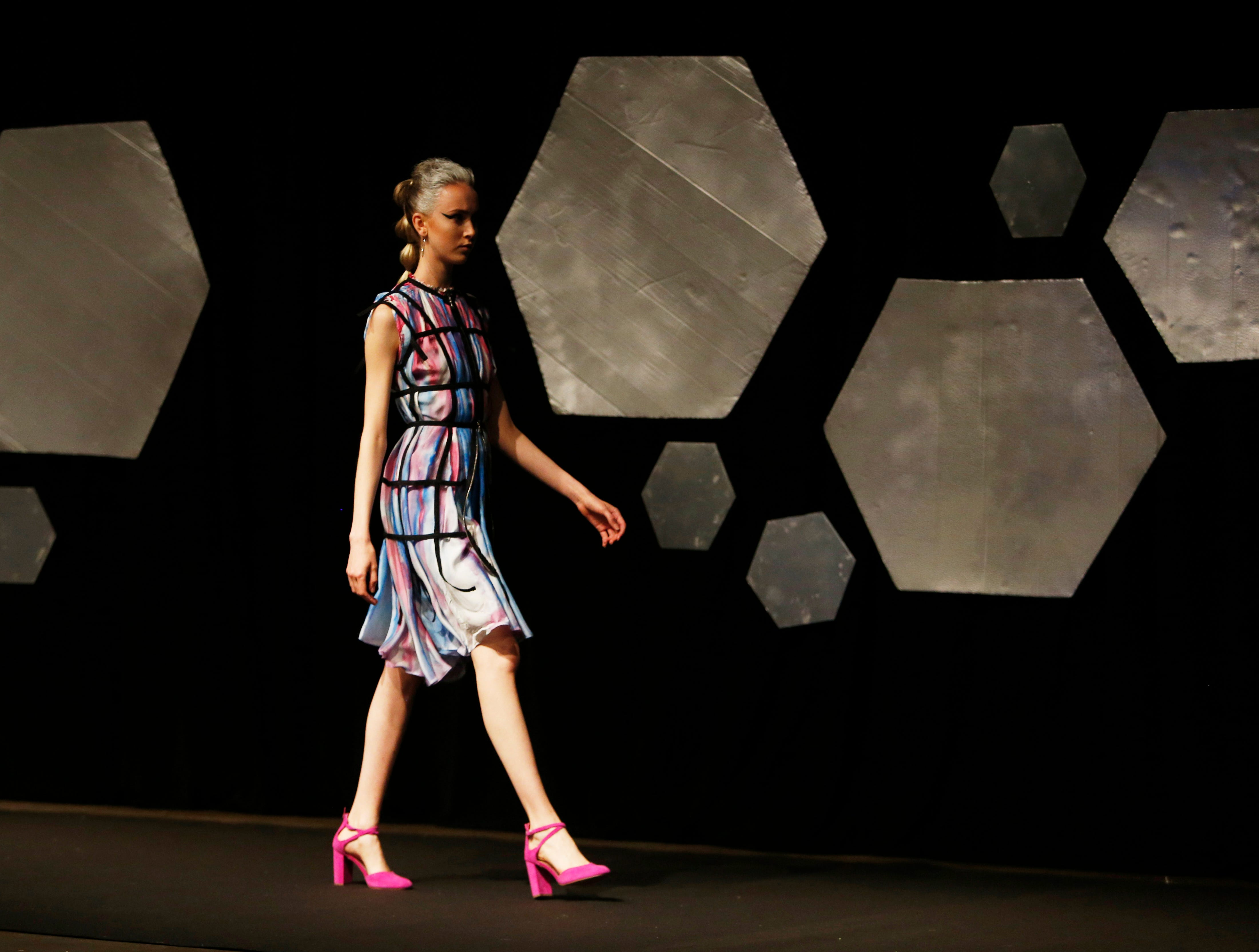 Designs from the collection of Marist College Fashion Department senior Keshet Levine during the 33rd Marist College Silver Needle Runway Show on May 10, 2019.
