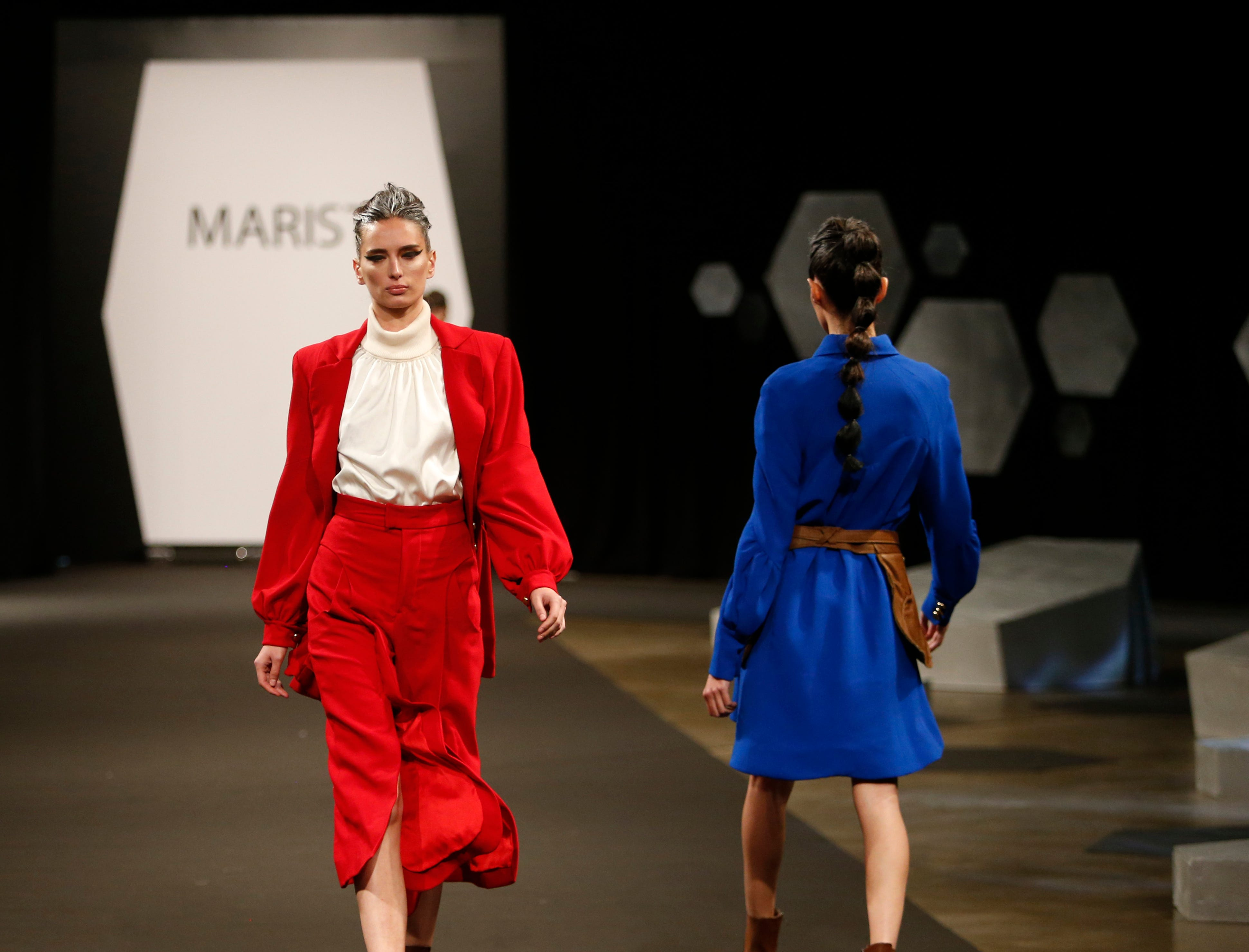 Designs from the collection of Marist College Fashion Department senior Anna Cortese during the 33rd Marist College Silver Needle Runway Show on May 10, 2019.