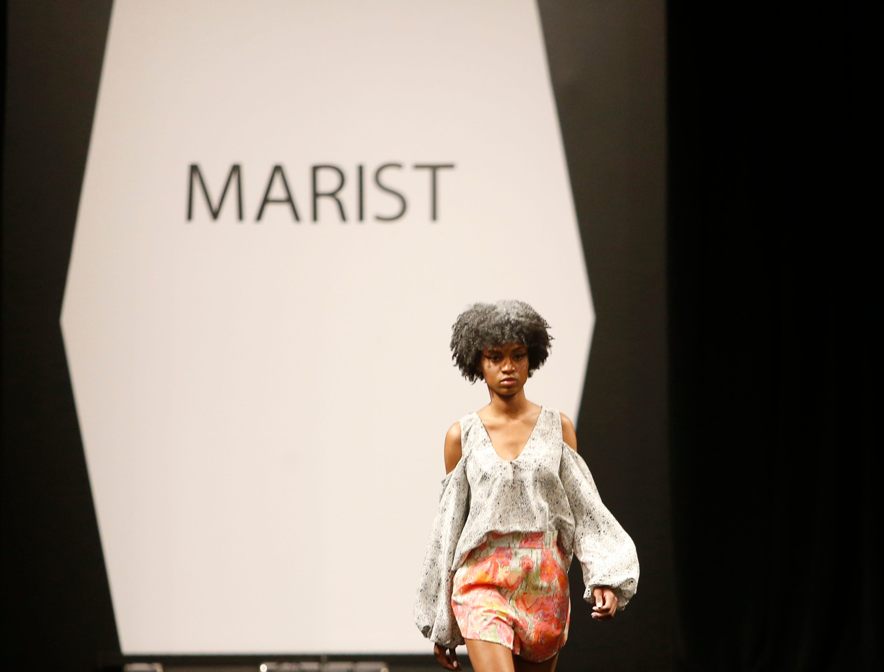 Designs from the collection of Marist College Fashion Department senior Madysen Gabel during the 33rd Marist College Silver Needle Runway Show on May 10, 2019.