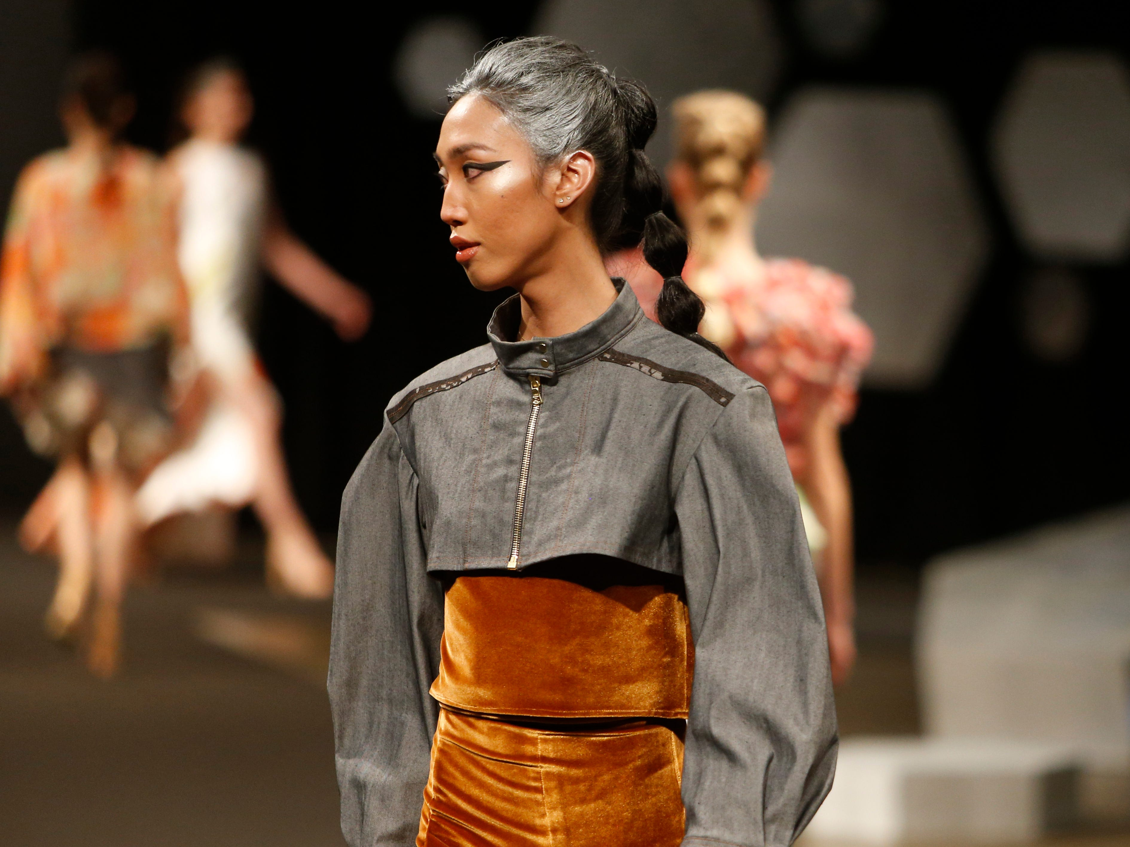 Designs from the collection of Marist College Fashion Department senior Joanna Musacchia during the 33rd Marist College Silver Needle Runway Show on May 10, 2019.