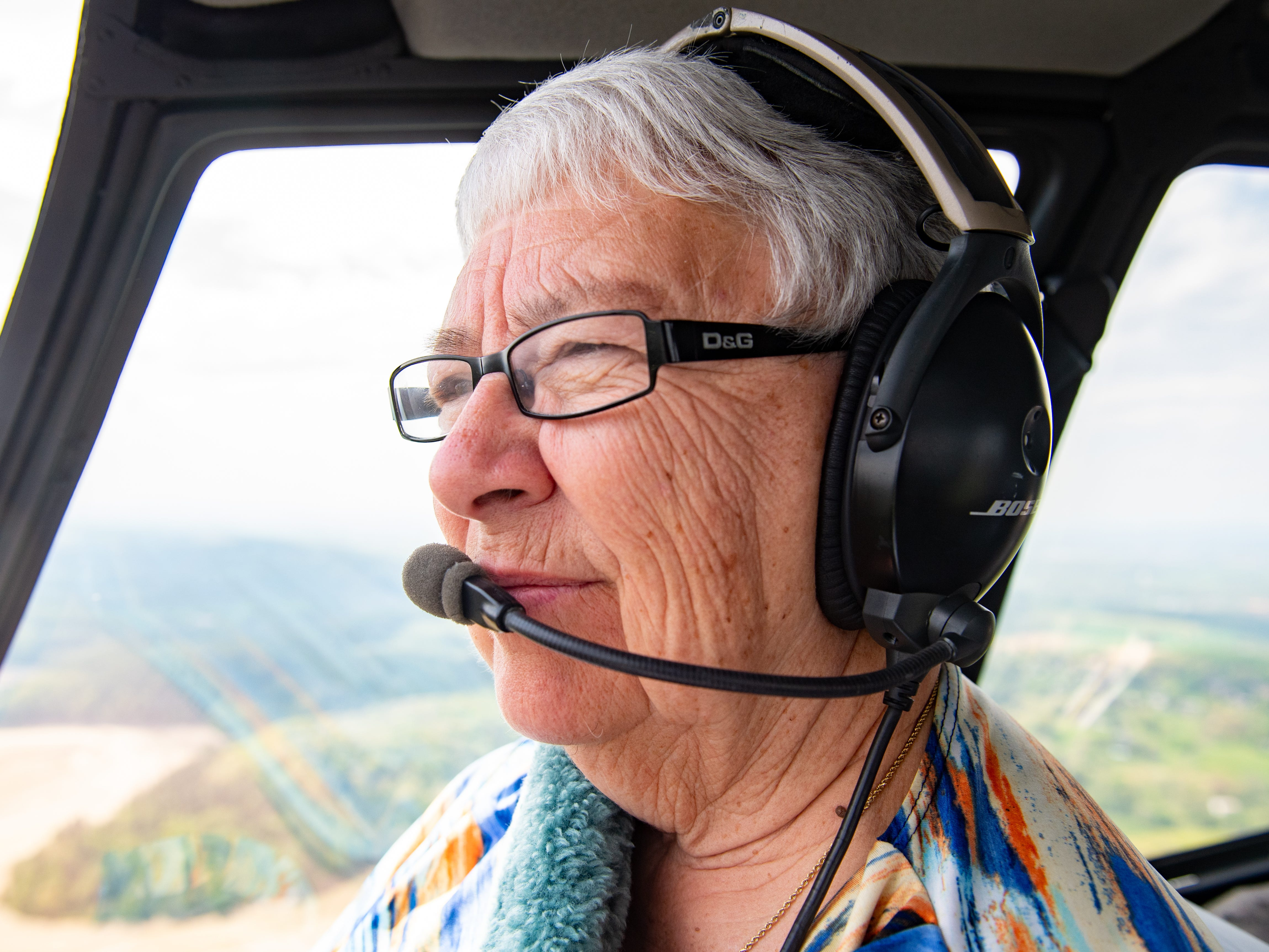 When Judith Redlawsk is in the air, she is completely at peace, May 2, 2019.