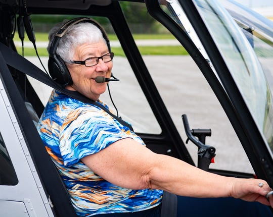 Expert aviator Judith Redlawsk has been in the air most of her life, she now flies approximately 700 times a year on top of managing Harsco aviation division, May 2, 2019.