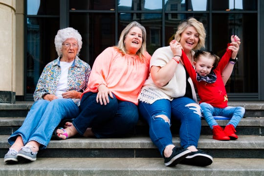 With Mother's Day right around the corner, four generations came together outside the York County Courthouse for this photo. (Left to right) Pat Grisham, Jo Anne Bennett and Mindy and Ruby Hoffman, May 9, 2019.