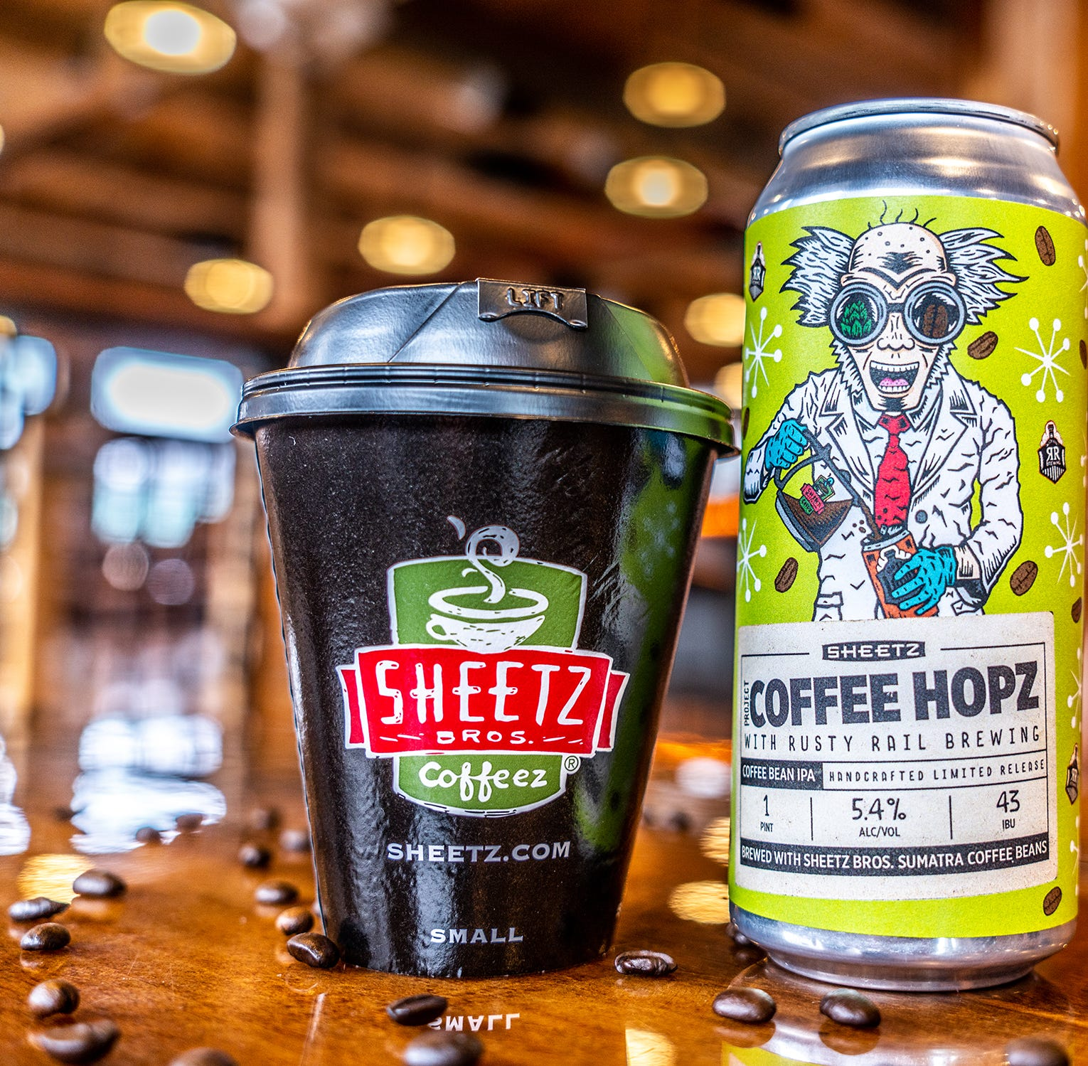 """York resident Zach Rupert designed the logo for the first-ever craft beer from Sheetz, """"Project Coffee Hopz."""" The chain teamed up with Rusty Rail Brewing Co. for coffee-infused IPA."""