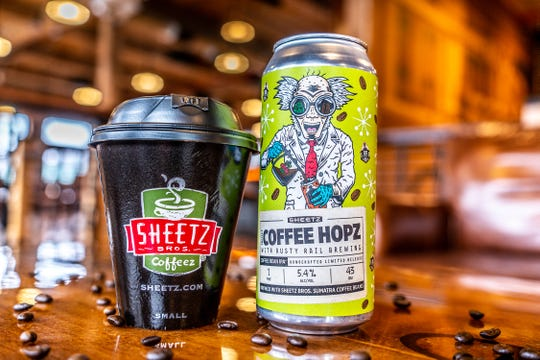 "York resident Zach Rupert designed the logo for the first-ever craft beer from Sheetz, ""Project Coffee Hopz."" The chain teamed up with Rusty Rail Brewing Co. for coffee-infused IPA."
