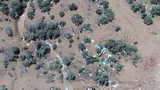 An aerial view of public land on Reno's northern outskirts shows how illegal target shooting is trashing the landscape.