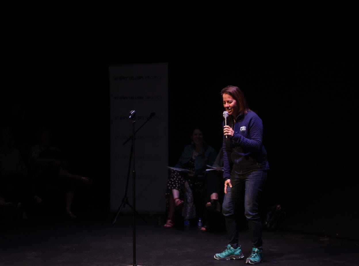 The Reno Storytellers Project hosts an evening of stories about parenthood at the Reno Little Theater on May 9, 2019.