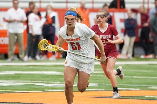 Emily Hawryschuk and Syracuse will play either Georgetown or Penn in the second round of the NCAA Division I lacrosse tournament on Sunday.