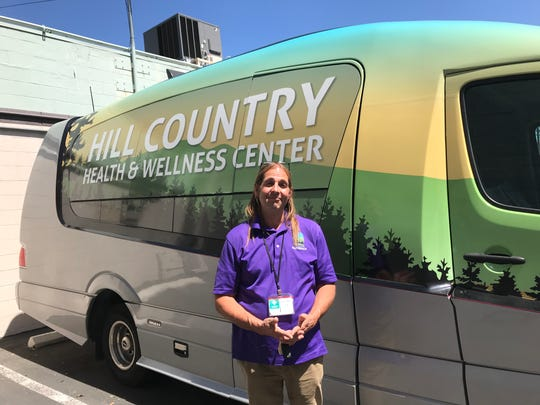 Social worker Peter Myers works with Hill Country Health and Wellness Center, the nonprofit that launched Shasta County's first mobile mental health crisis center-on-wheels in January.