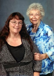 Annie Faggard, left, and her mother, Betty Kinner, pose together in this 2008 photo. Both worked at St. Elizabeth Community Hospital in Red Bluff as nurses.