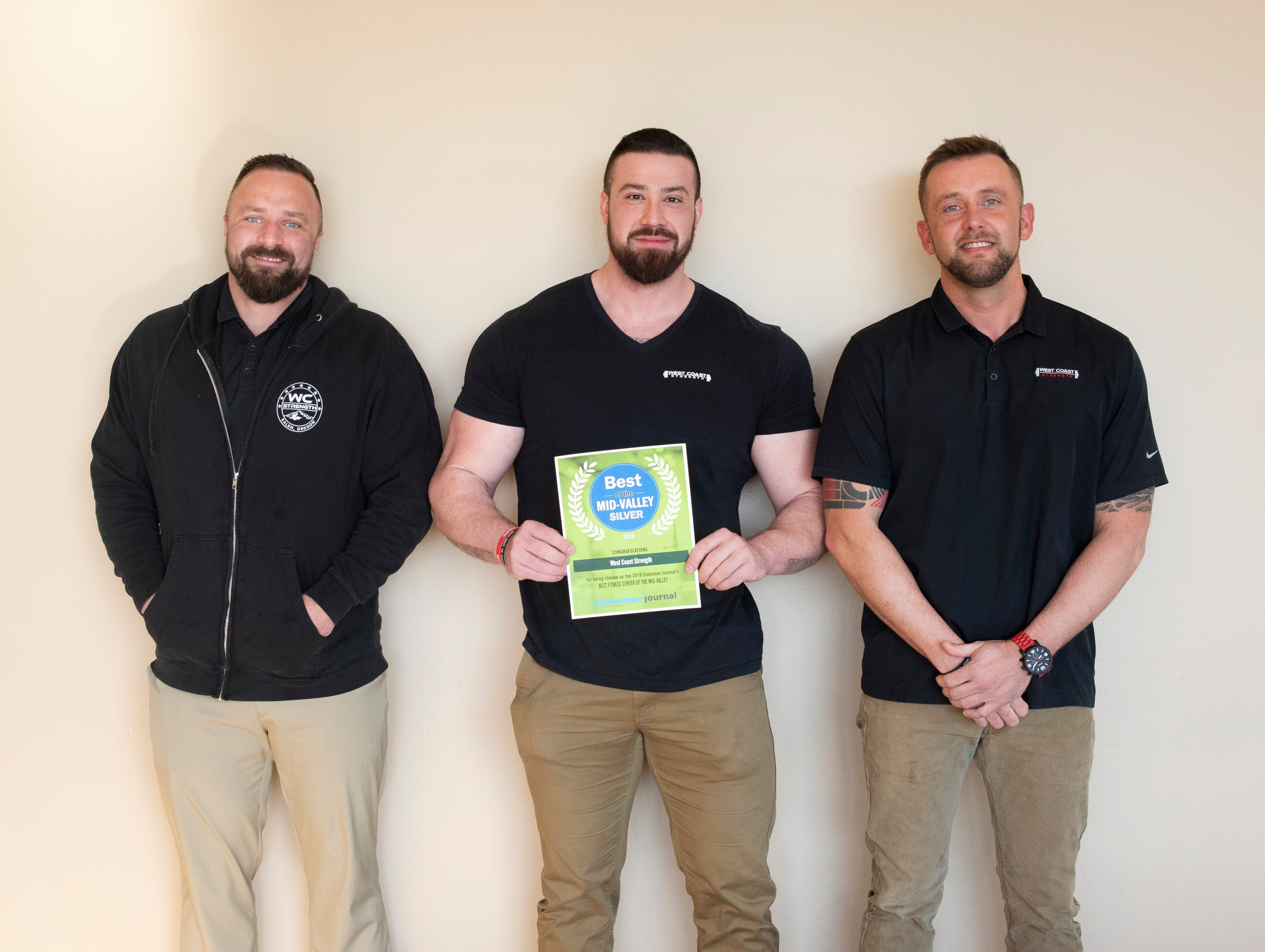 West Coast Strength won silver for Best Fitness Center in the 2019 Best of the Mid-Valley.