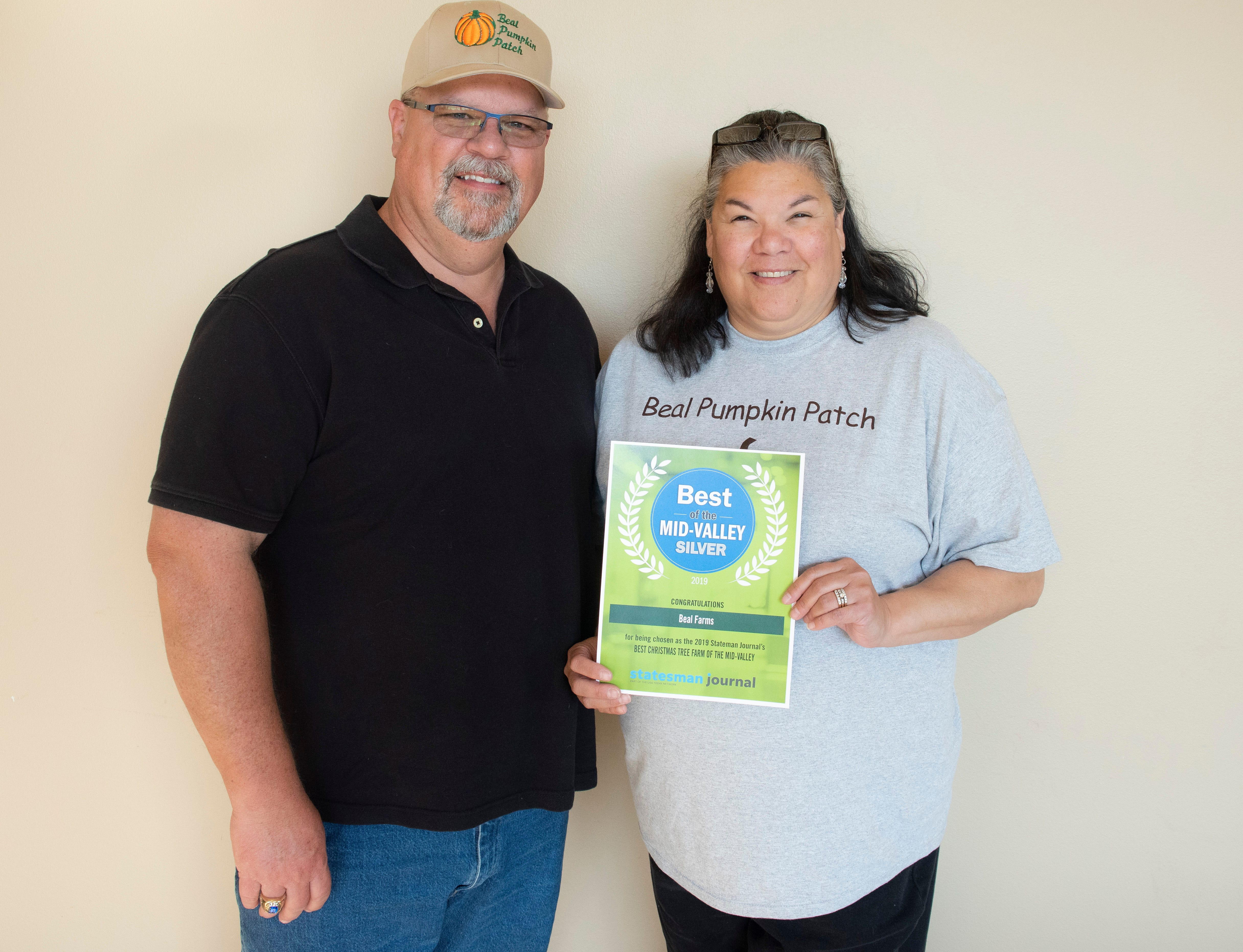 Beal Farms won silver for Best Christmas Tree Farm in the 2019 Best of the Mid-Valley.