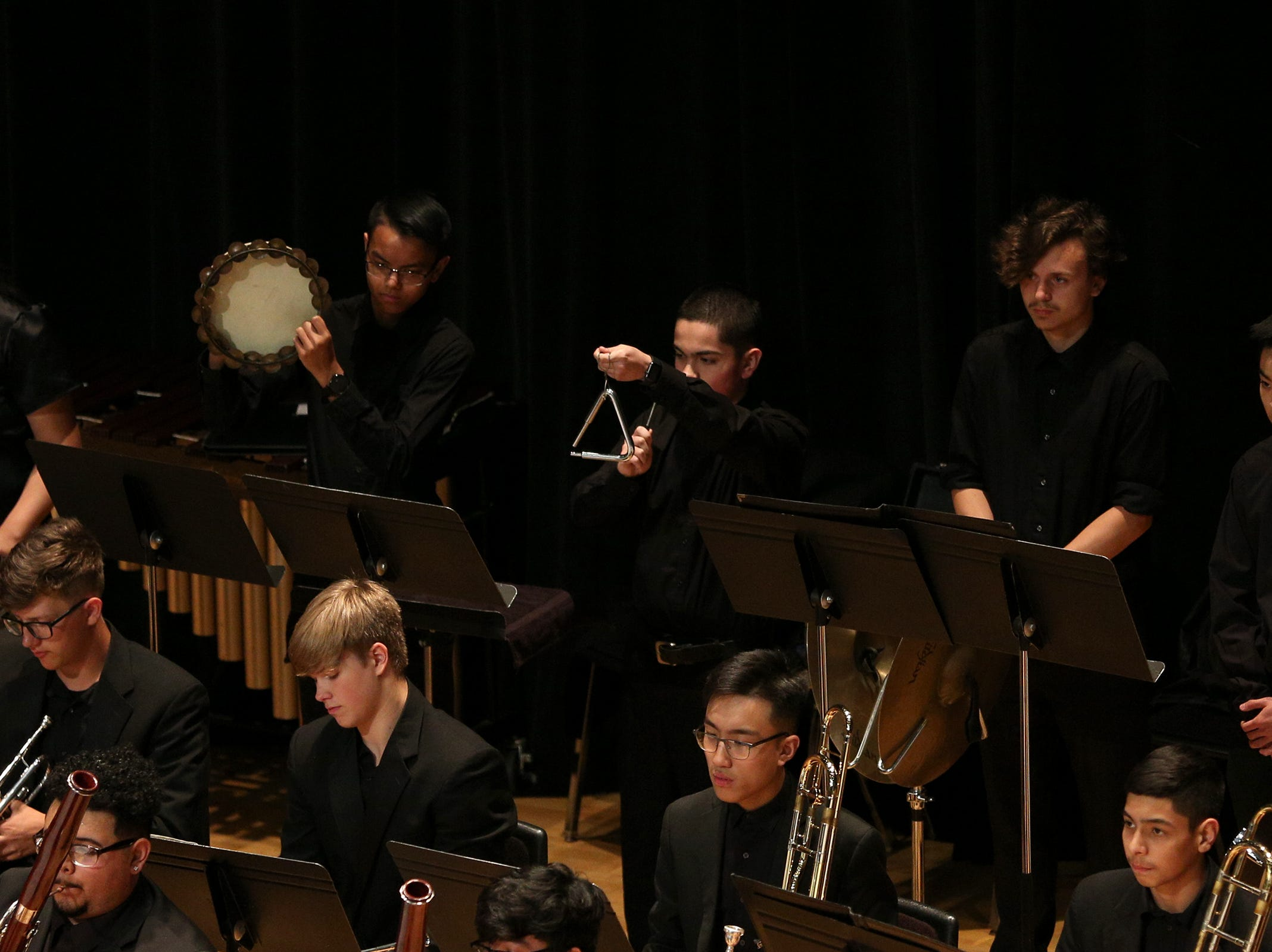 McKay High School's Orchestra, under the direction of JJ Meyer, performs at the OSAA 6A Orchestra State Championships at Oregon State University in Corvallis on May 9, 2019.