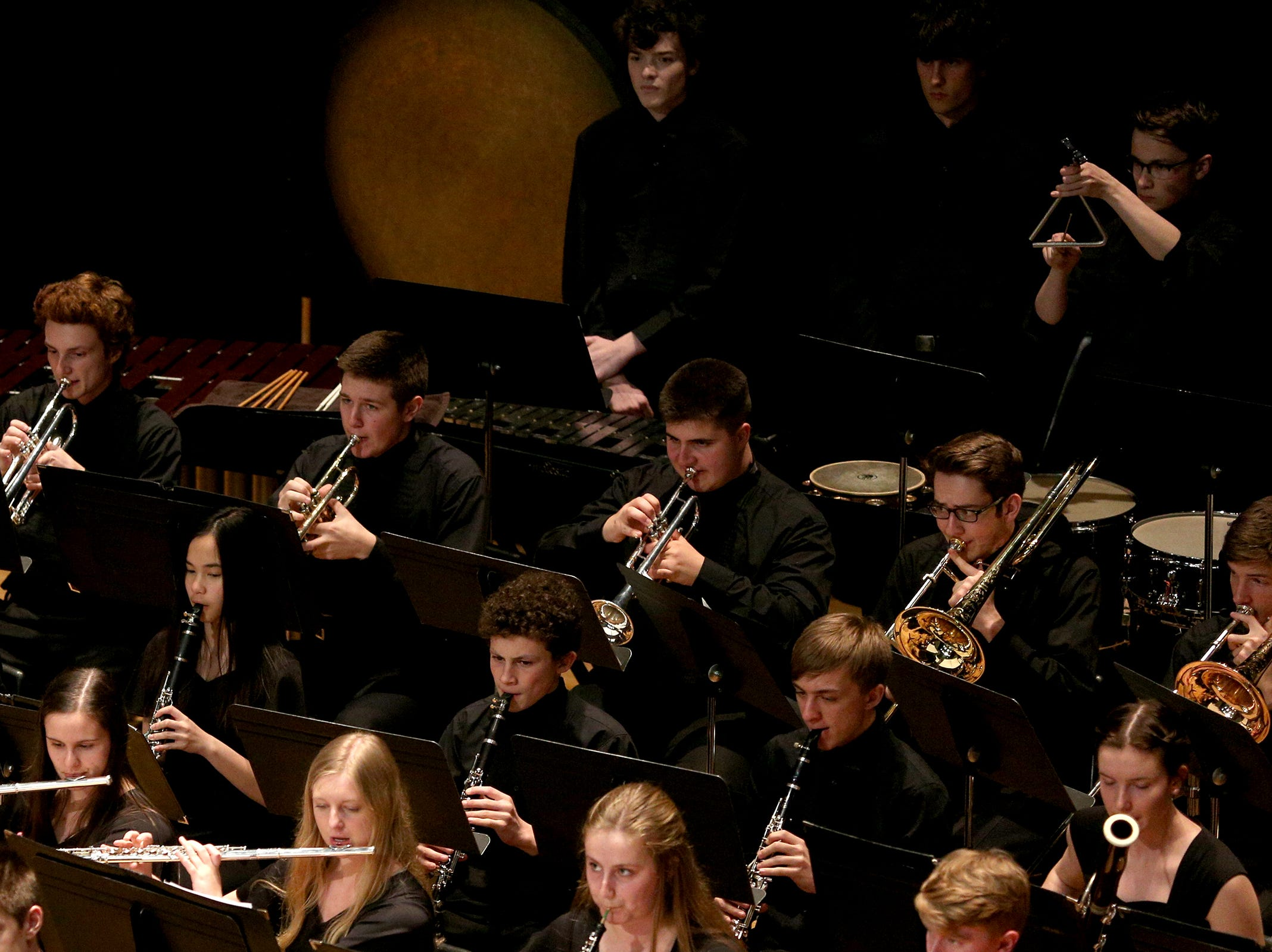 West Salem High School's Orchestra, under the direction of Todd Zimbelman and George Thomson, performs at the OSAA 6A Orchestra State Championships at Oregon State University in Corvallis on May 9, 2019.