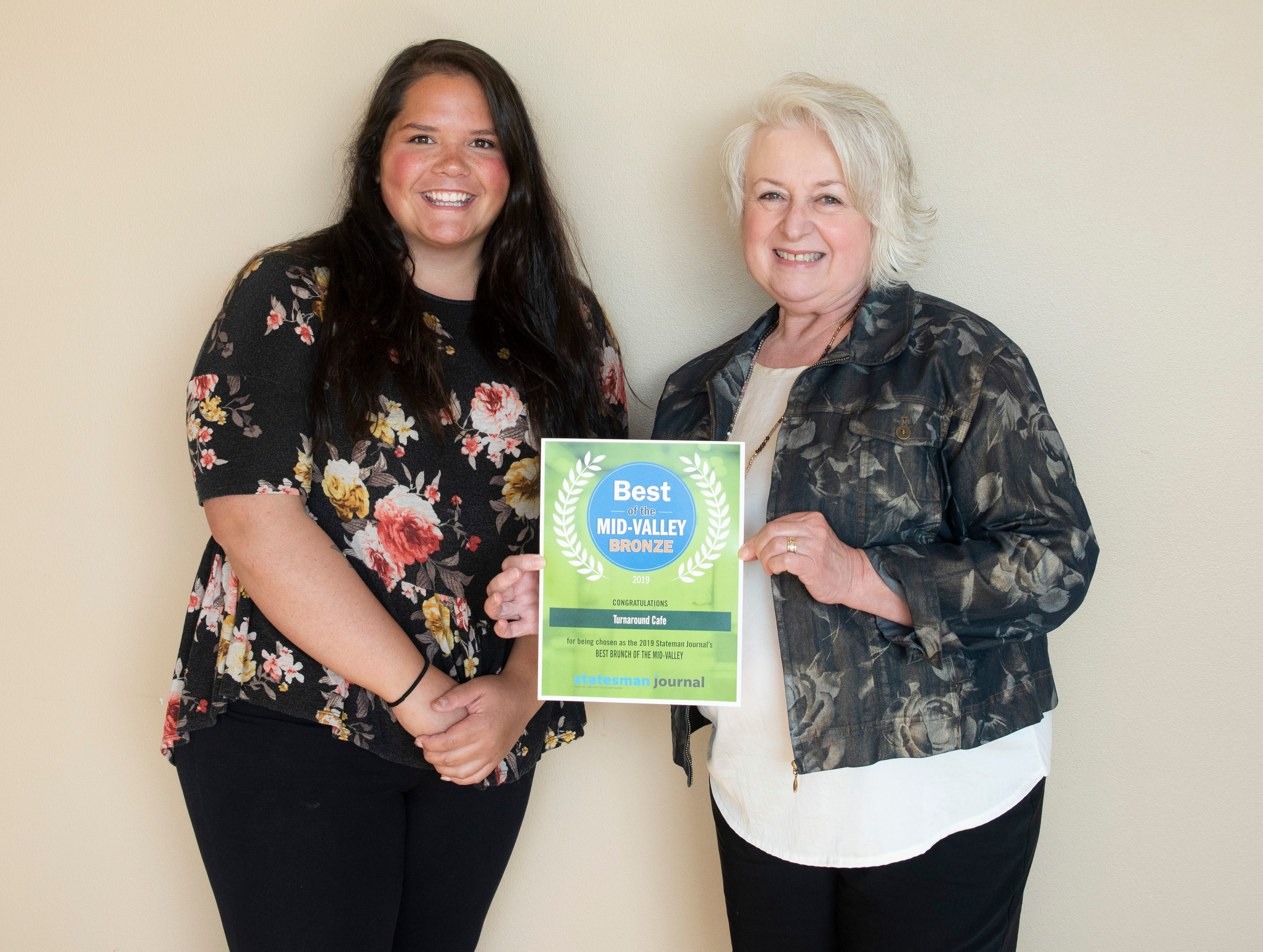 Turnaround Cafe won bronze for Best Brunch in the 2019 Best of the Mid-Valley.