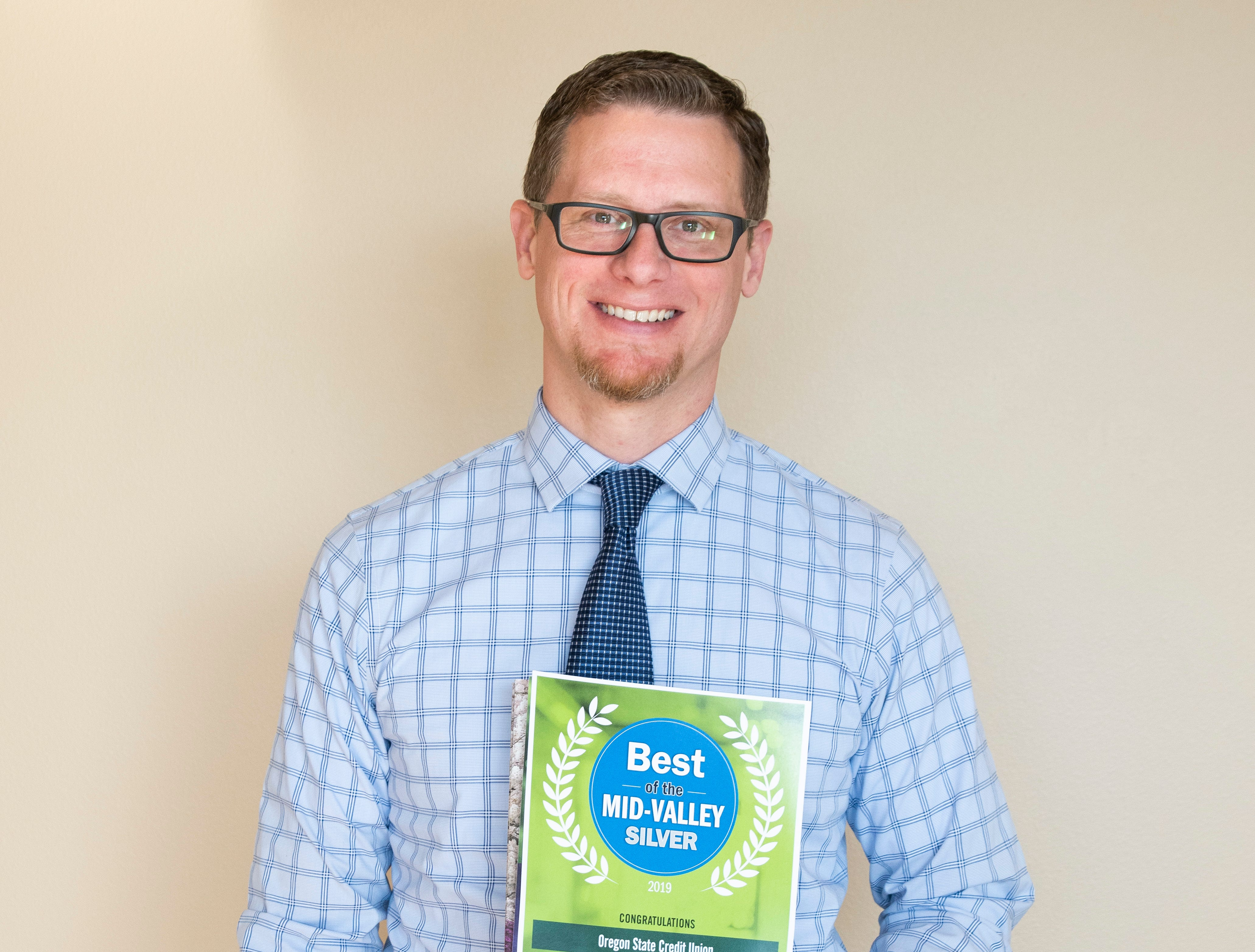 Oregon State Credit Union won silver for Best Credit Union in the 2019 Best of the Mid-Valley.