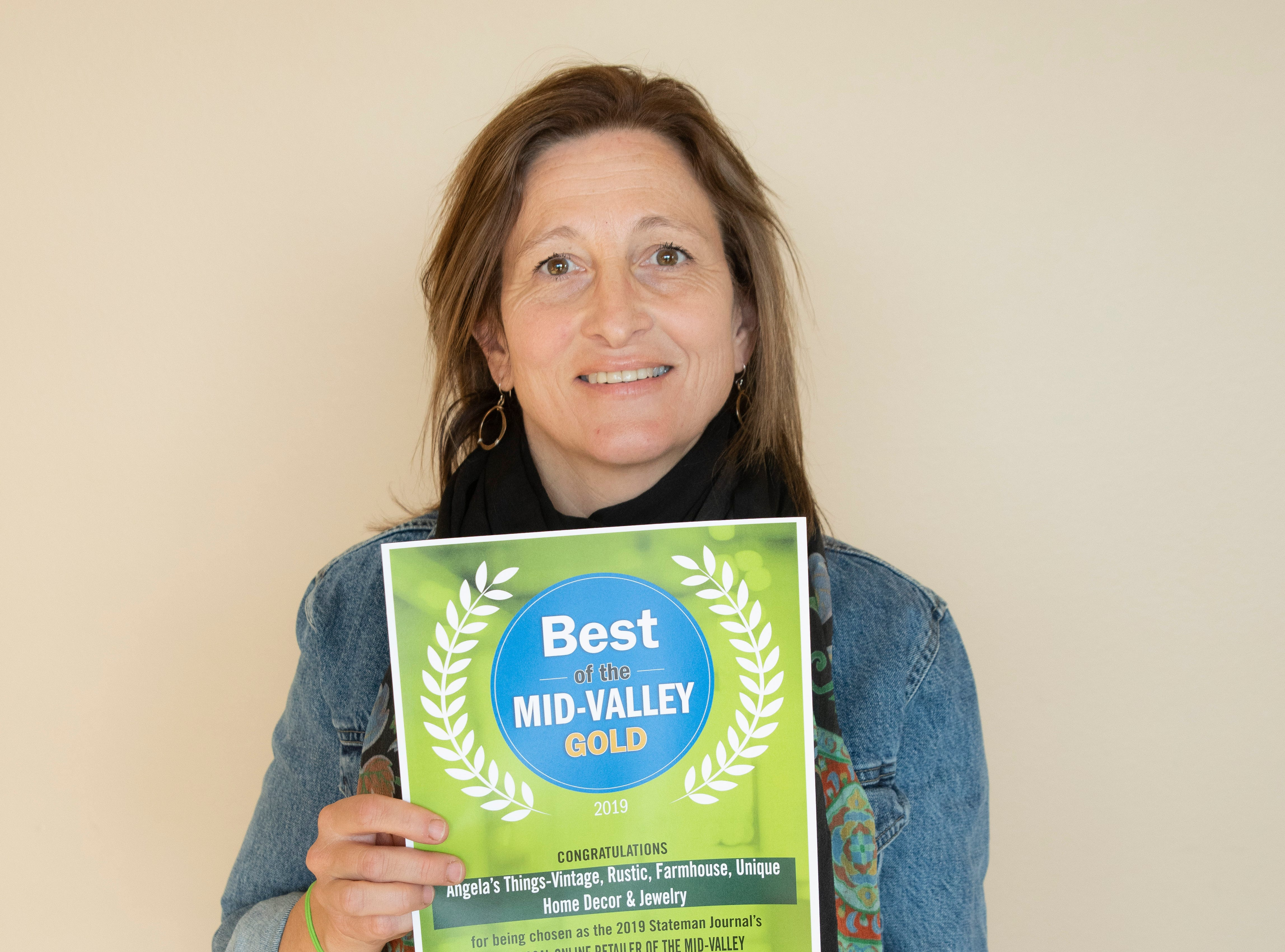 Angela's Things won gold for Best Local Online Retailer in the 2019 Best of the Mid-Valley.