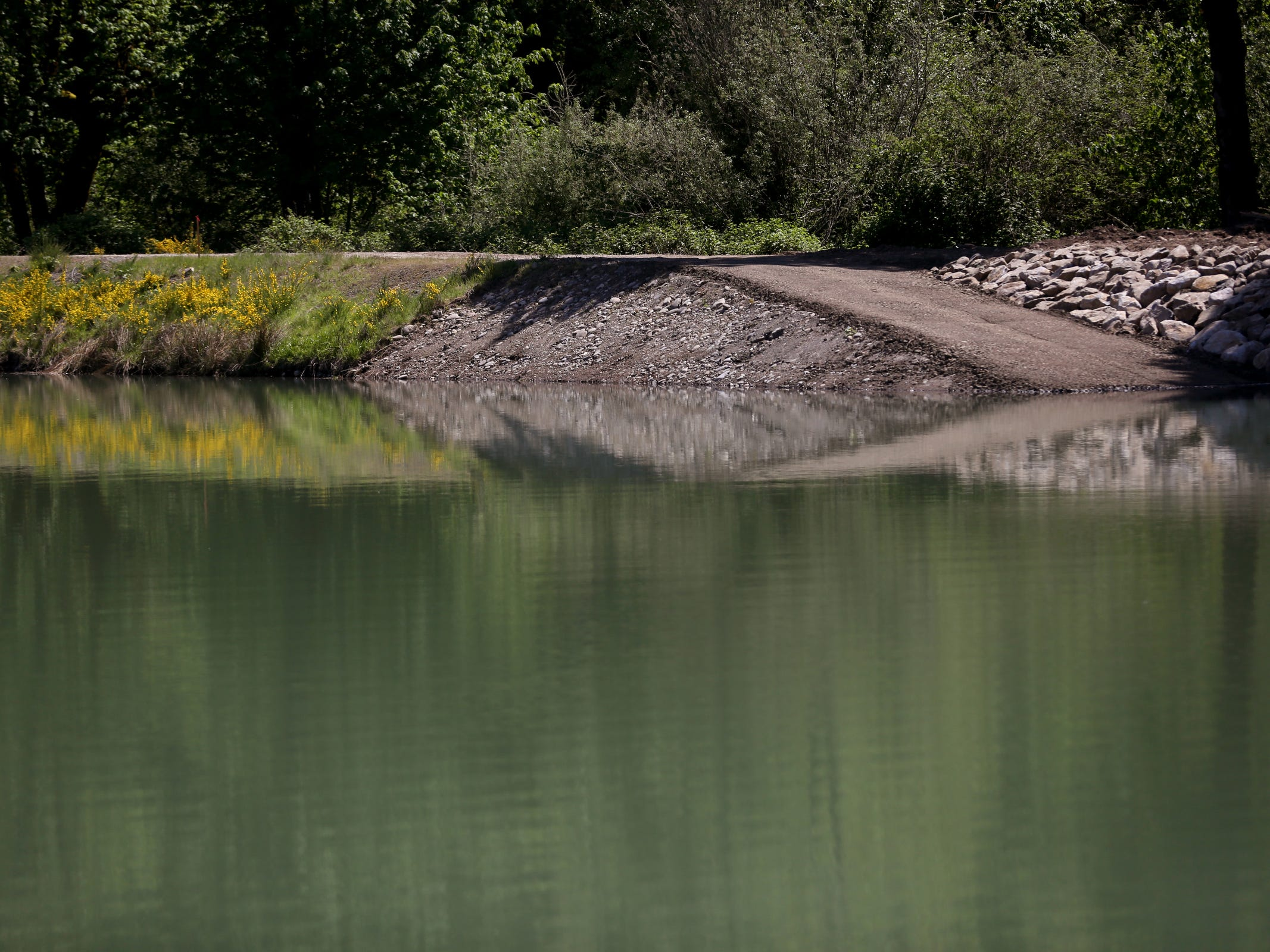 A basin used for powder-activated carbon treatment has been widened at the Geren Island Water Treatment Facility near Stayton on May 10, 2019. Salem officials are planning to spend more than $75 million to build defenses against toxic algae, in an effort to avoid a rerun of last year's drinking water crisis.