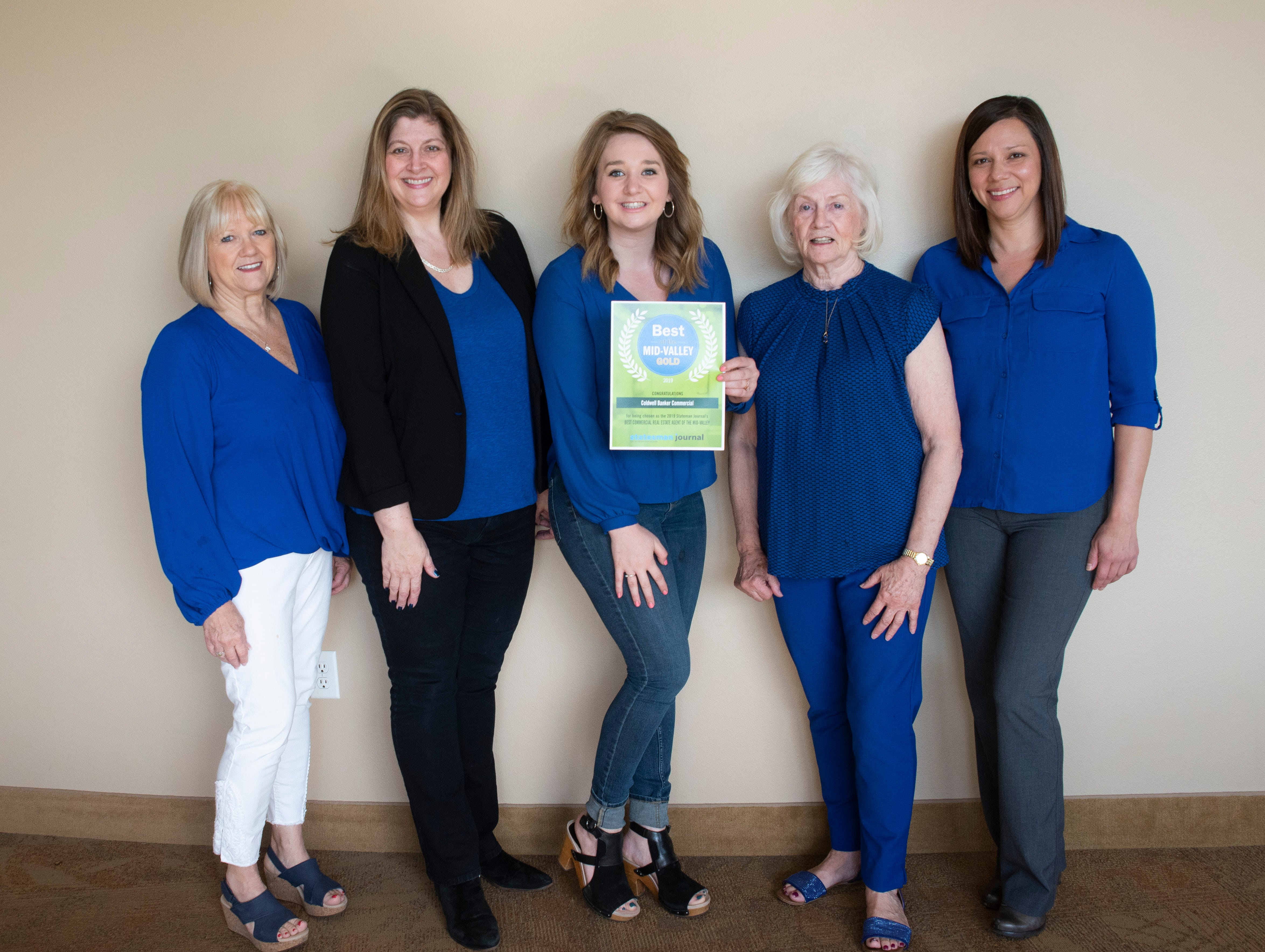 Coldwell Banker Commercial won gold for Best Commercial Rest Estate Agent in the 2019 Best of the Mid-Valley.