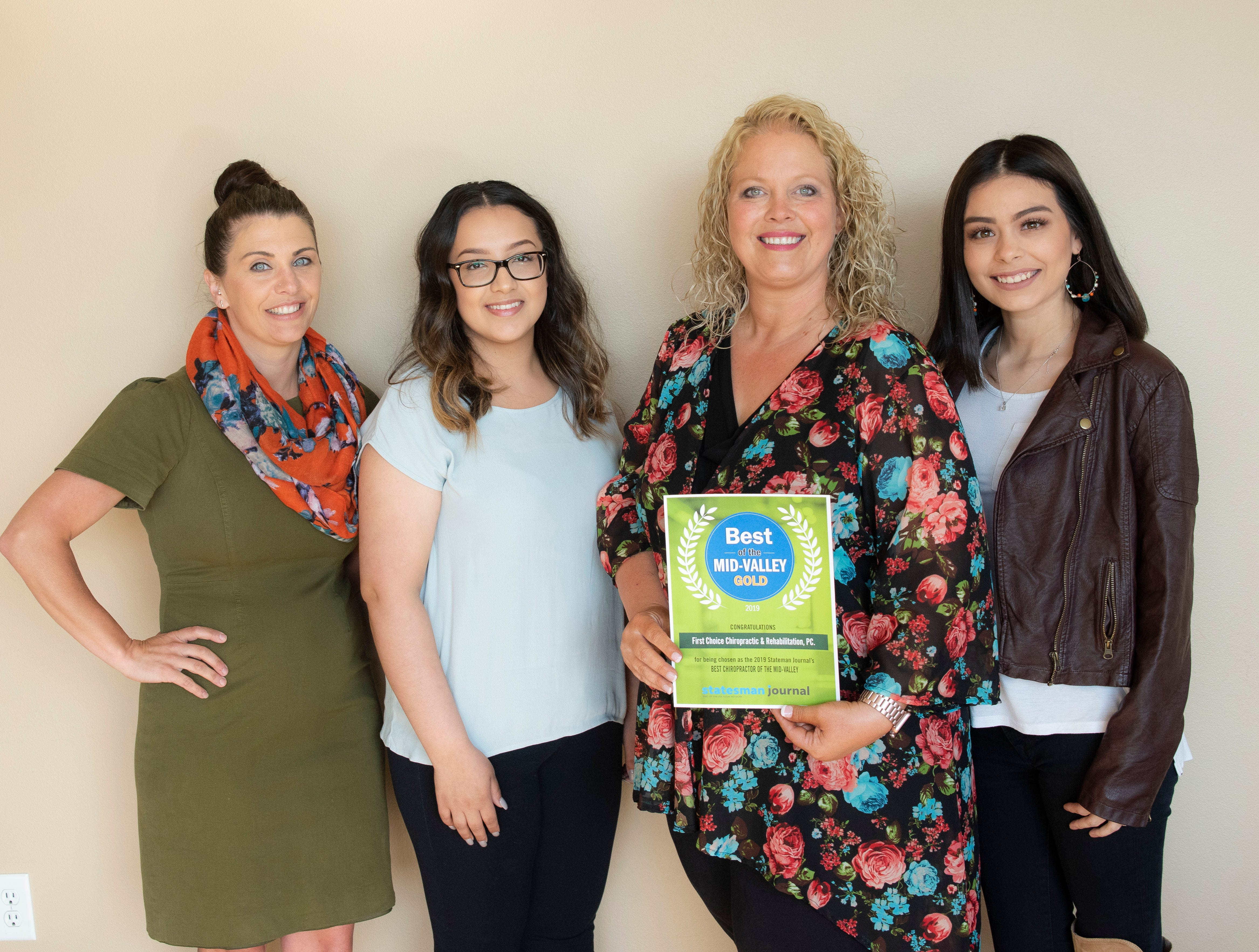 First Choice Chiropractic & Rehabilitation won gold for Best Chiropractor in the 2019 Best of the Mid-Valley.