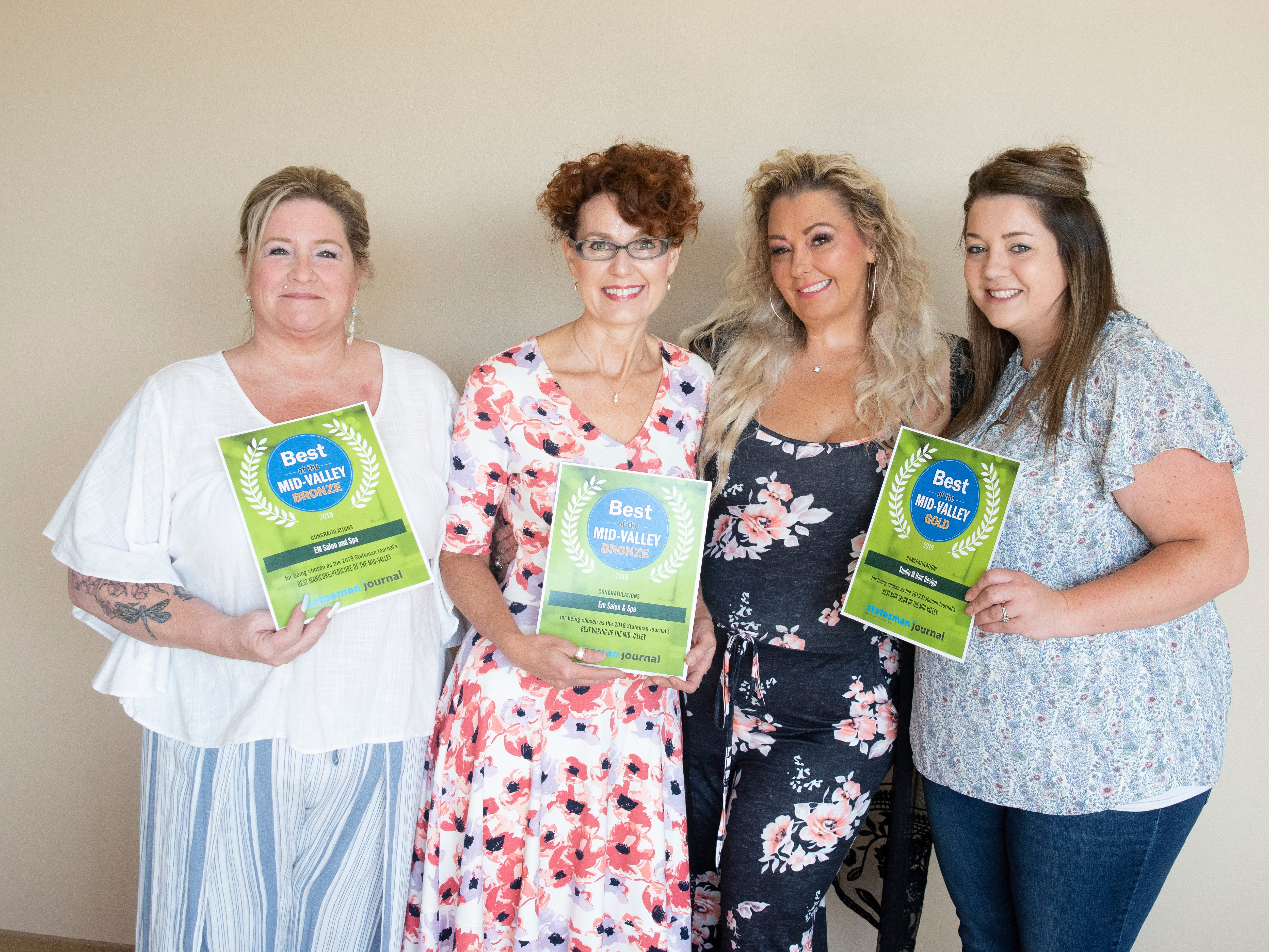 EM Salon and Spa won bronze for Best Manicure,Pedicure and bronze for Best Waxing in the 2019 Best of the Mid-Valley.