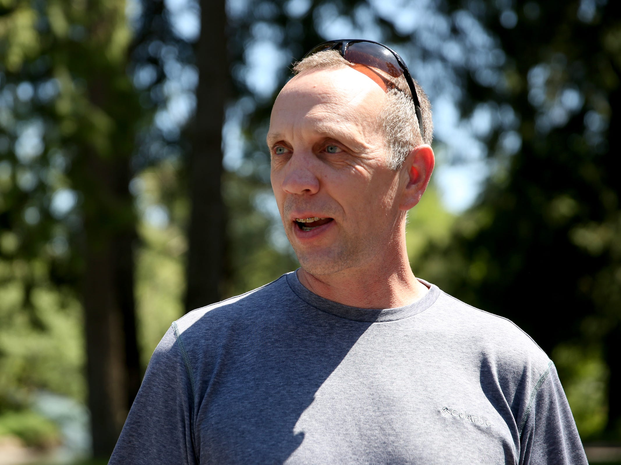 Tim Sherman, the operations and maintenance supervisor at the Geren Island Water Treatment Facility near Stayton on May 10, 2019. Salem officials are planning to spend more than $75 million to build defenses against toxic algae, in an effort to avoid a rerun of last year's drinking water crisis.