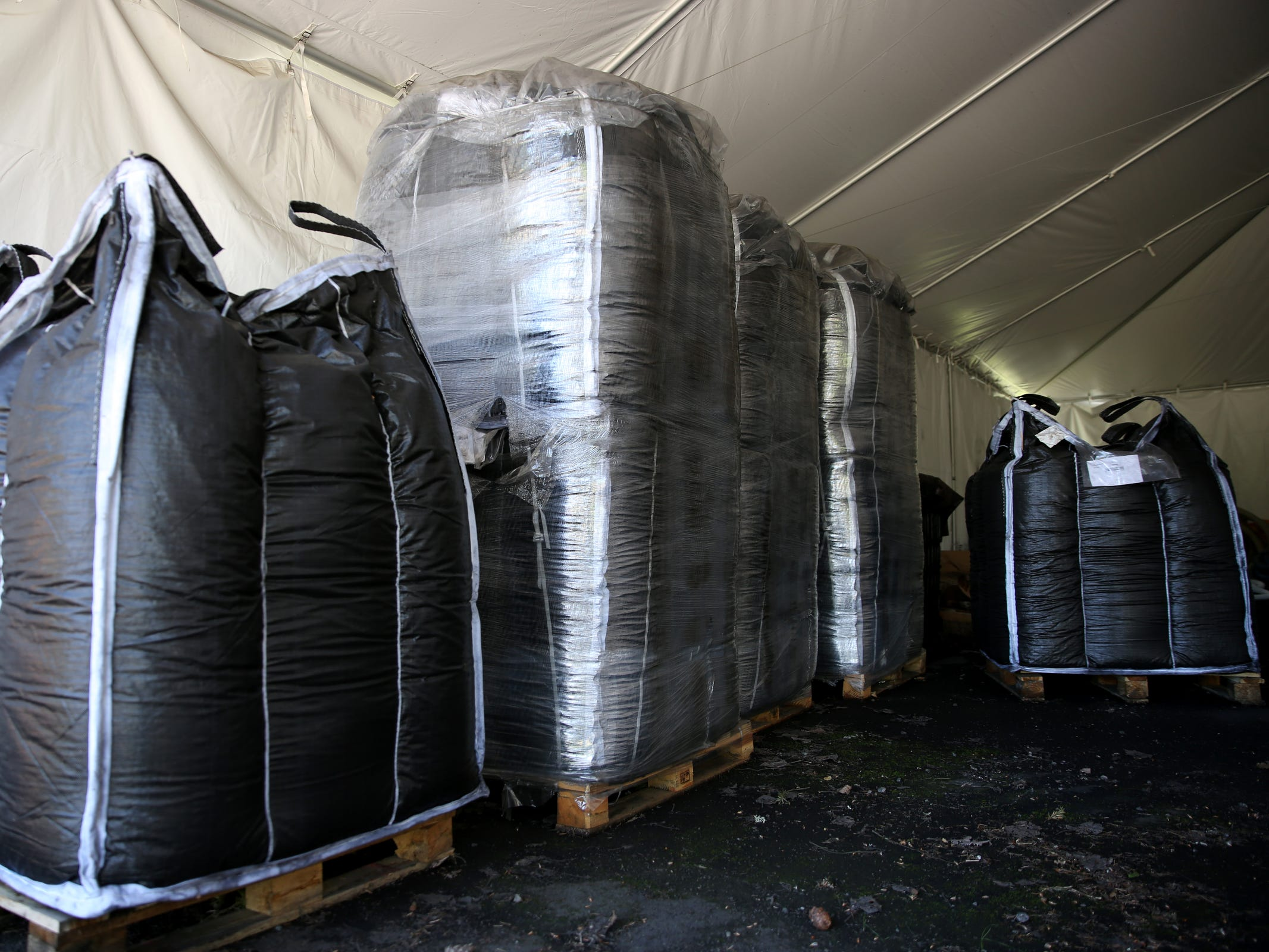 Powder-activated carbon is stored at the Geren Island Water Treatment Facility near Stayton on May 10, 2019. Salem officials are planning to spend more than $75 million to build defenses against toxic algae, in an effort to avoid a rerun of last year's drinking water crisis.