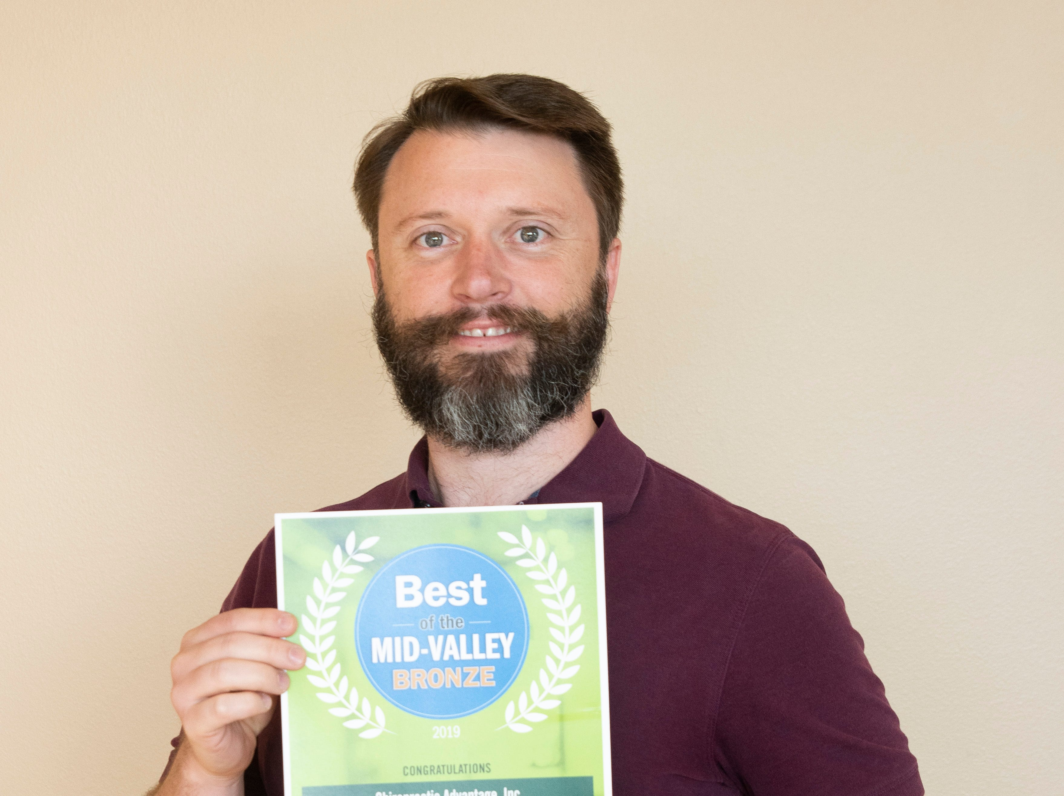 Chiropractic Advantage won bronze for Best Chriopractor in the 2019 Best of the Mid-Valley.