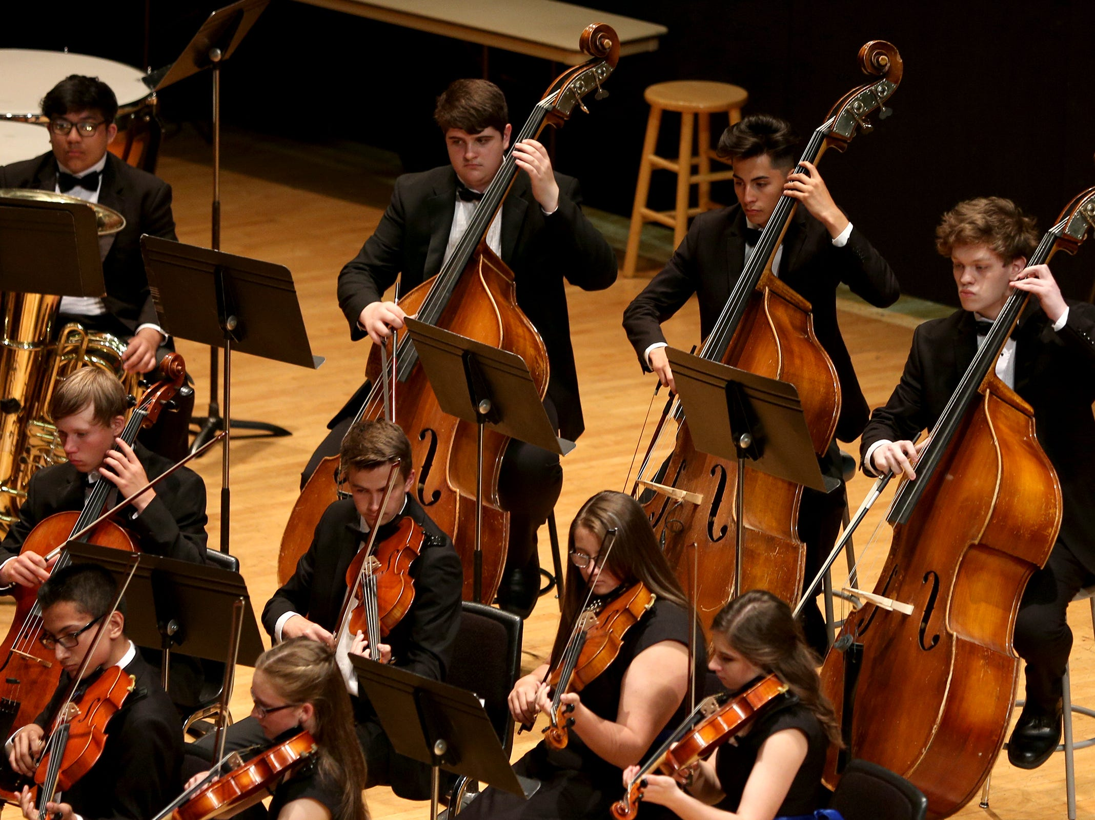 McNary High School's Orchestra, under the direction of Sean Williams, performs at the OSAA 6A Orchestra State Championships at Oregon State University in Corvallis on May 9, 2019.