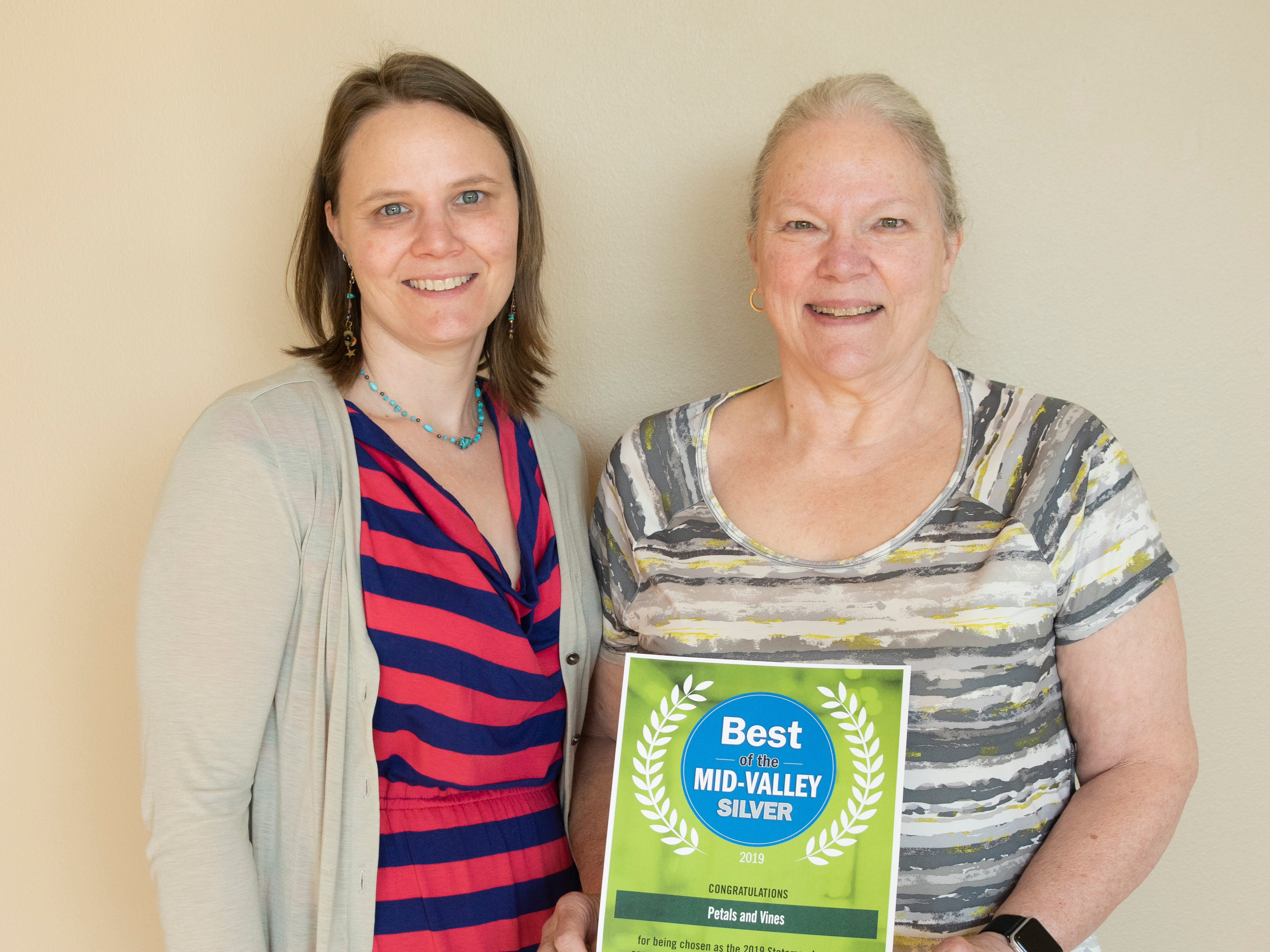 Petals and Vines won silver for Best Monmouth/Independence Shop in the 2019 Best of the Mid-Valley.