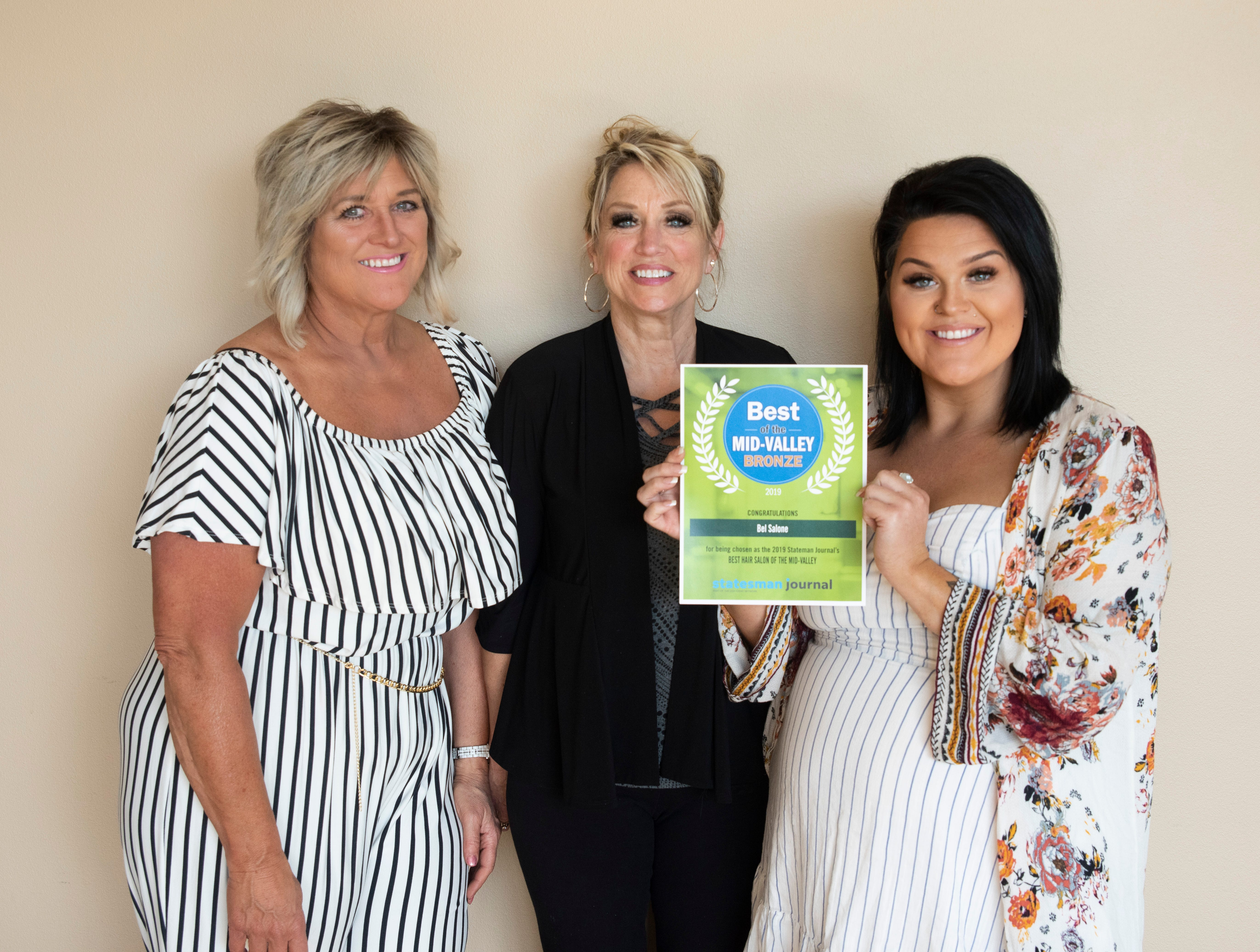 Bel Salone won bronze for Best Hair Salon in the 2019 Best of the Mid-Valley.
