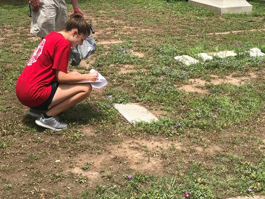 Vivian Yale reports a flag holder placed at a grave site at Fairmount Cemetery, 1120 W. Ave. N. Sunday, May 5, 2019.
