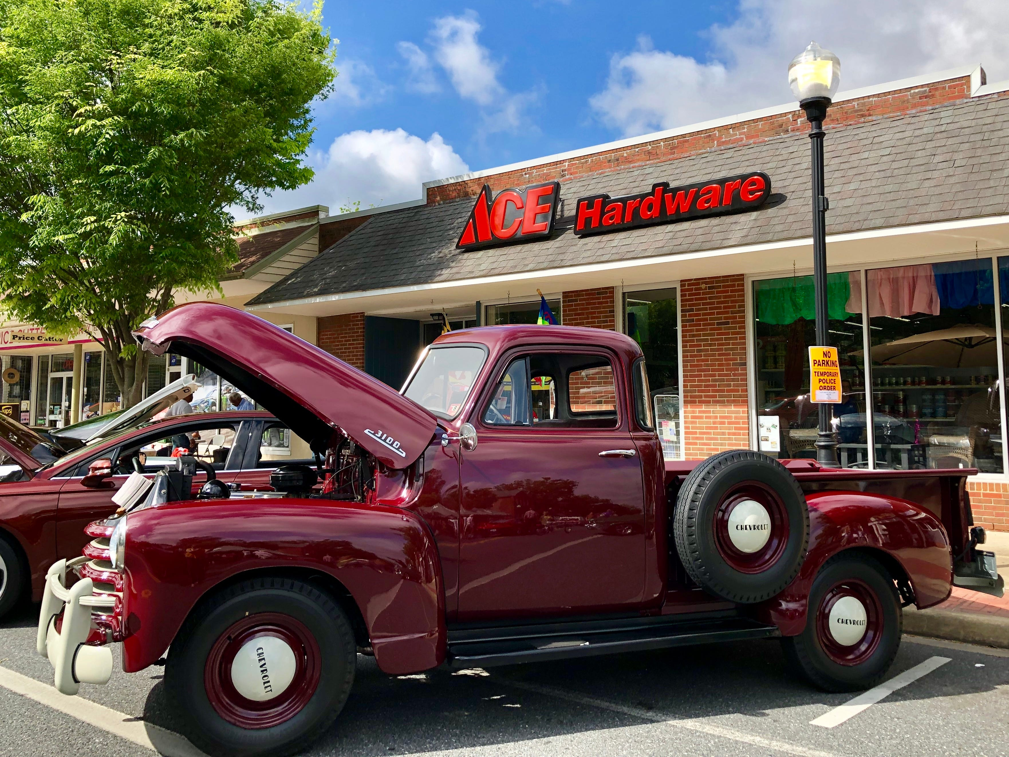 Princess Anne Street Fest featured a car show again this year. This 1953 Chevrolet truck, owned by Doug Peterson, was on display outside Harris Ace Hardware. Trophies for the car show were sponsored by PNC Bank.