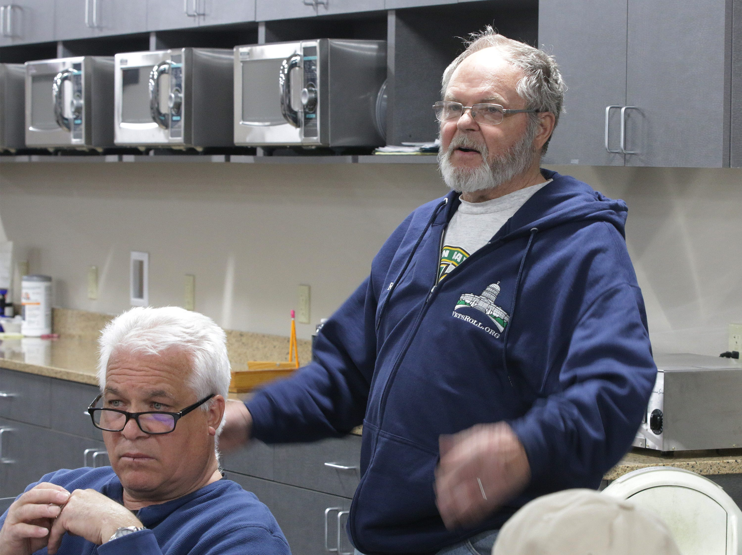 Roger Rortvedt of the Town of Plymouth wondered to DOT officials if enough attention has been paid in the planning on the ditches for the State Highway 23 four-lane expansion plans, Thursday, May 9, 2019, in Plymouth, Wis.