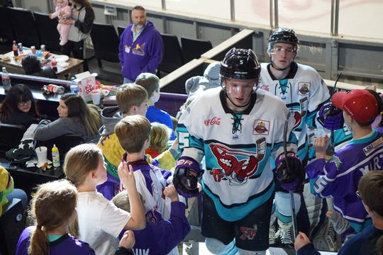 Ethan Harrison (5) led the Shreveport Mudbugs with 19 goals during the 2018-19 regular season.
