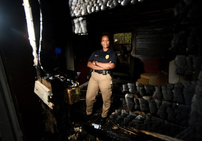 Janet Ward is the first arson investigator with the Shreveport Fire Department.
