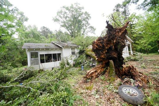 Gov. John Bel Edwards toured the damage at  Jimmie Davis State Park and Jackson Parish Thursday May 9, 2019 afternoon.