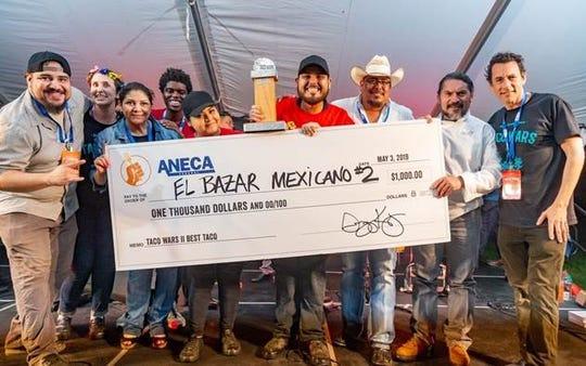 El Bazar Mexicano #2 took home the Golden Taco Award at Taco Wars II on May 3.