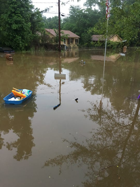 Cannon Road in Bossier Parish was flooded Thursday, May 9, 2019.