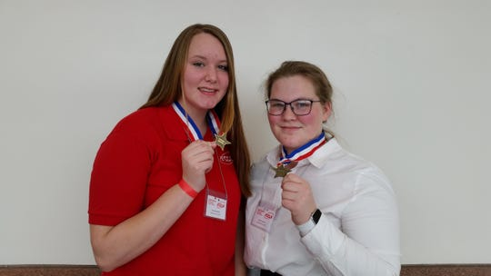 Rylee Rinehart (left) and Faithe Larson both received Top Superiors on their respective events at the FCCLA Leadership Council.