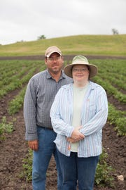 Dakota Fresh farmer-members Paul and  Laura Warner of Warner's Produce near Montrose.