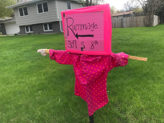 Brandon resident Amber Christensen had a unique sale sign for the massive Brandon Rummage sale on Mother's Day weekend.