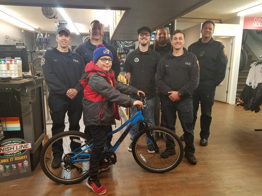 Trysten Dayrider's bicycle was stolen in Sioux Falls this weekend. But after his mother posted on Facebook about the bike on Monday, Sioux Falls Fire Rescue Captain Mike Murphy stepped in to get the 8-year-old a replacement.