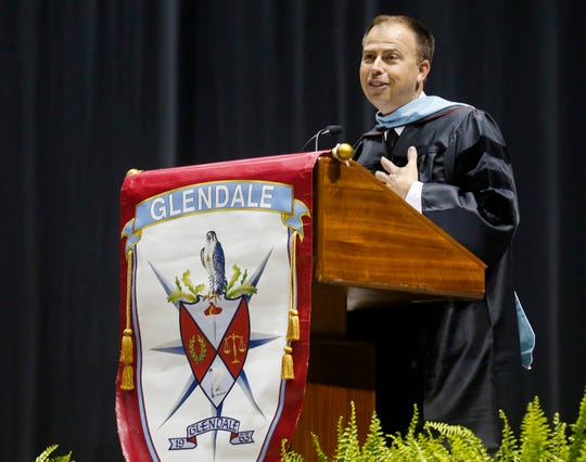 In May 2019, Superintendent John Jungmann spoke during the commencement ceremony for Glendale High School.