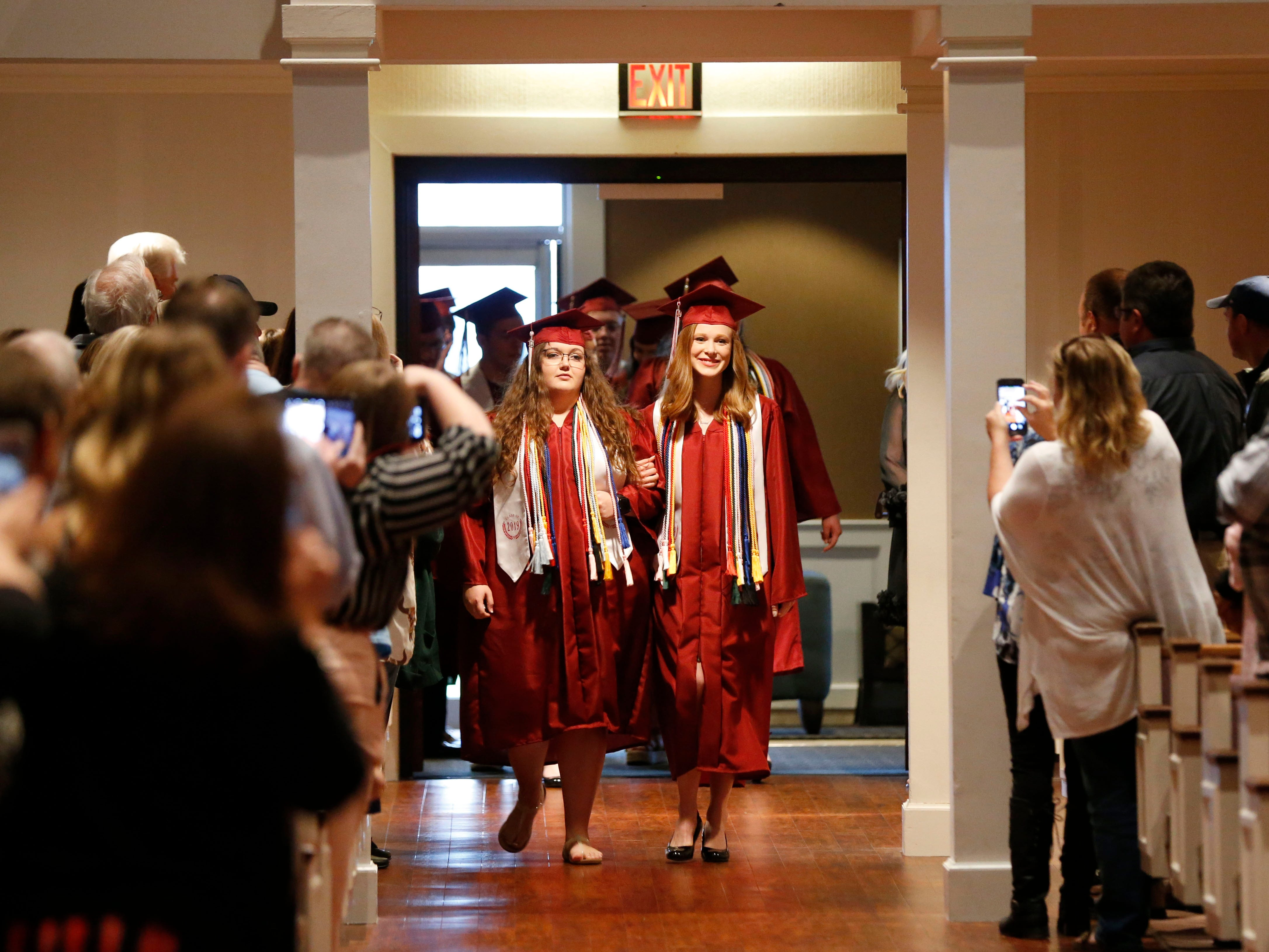 Scenes from the Strafford High School Commencement Ceremony at High Street Baptist Church on Thursday, May 9, 2019.