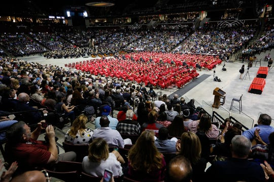 Family and friends packed JQH Arena to celebrate commencement with the Glendale High School Class of 2020.