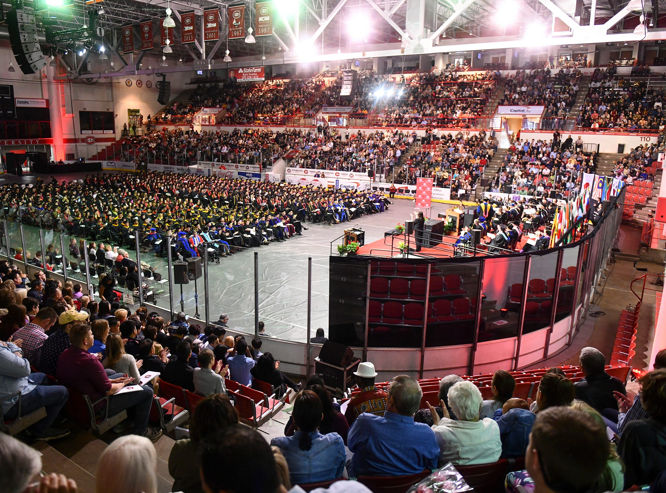 The Herb Brooks National Hockey Center hosted commencement ceremonies at St. Cloud State University this year.