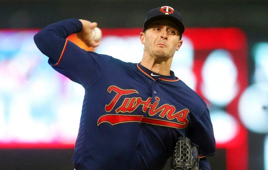 Minnesota Twins pitcher Jake Odorizzi has a 1.11 ERA since April 15. He was named American League Player of the Week on Monday.