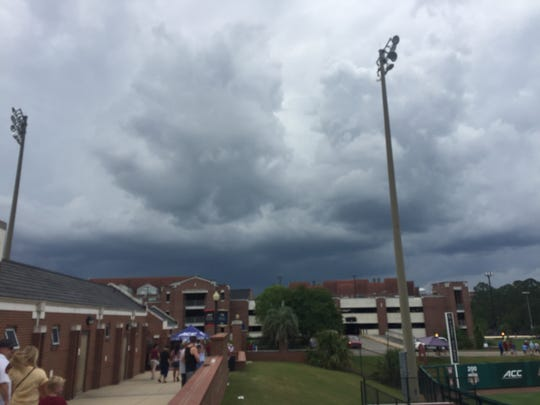 Severe weather has delayed the ACC Softball Semifinals at Florida State's JoAnne Graf Field.