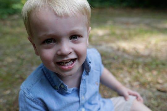 James Horton, 2, at his parents' Tallahassee home Thursday, May 9, 2019.